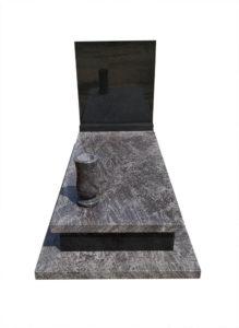 Nagrobek pojedynczy z granitów Orion i Szwed