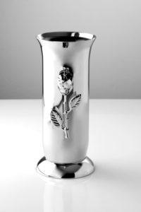 wazon na cmentarz ze stali nierdzewnej