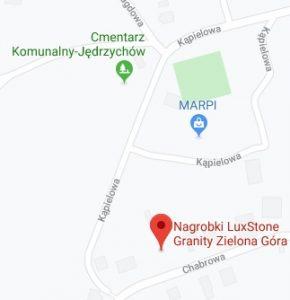 luxstone granity na mapie