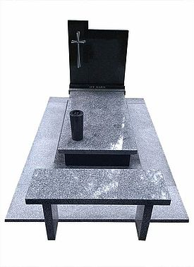 nagrobek granitowy i ławka na cmentarz