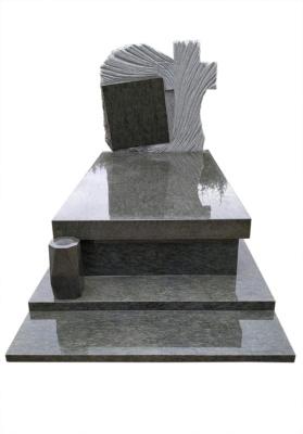 Grobowiec z granitu Verde Bahia