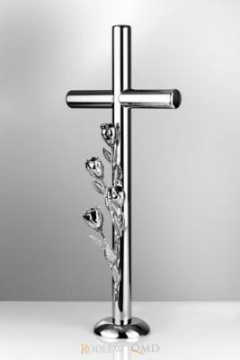 krzyż stojący z różą 3d