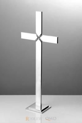 krzyż stojący z rowkiem satynowym KS8
