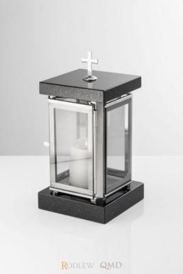 lampion cmentarny ze stali i granitu LC01
