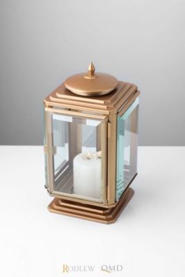 lampion na cmentarz stare złoto