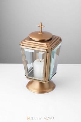lampion na cmentarz złoty