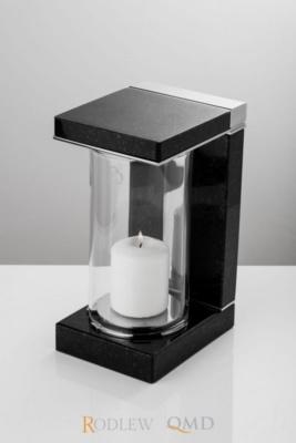 Lampion stalowo-granitowy