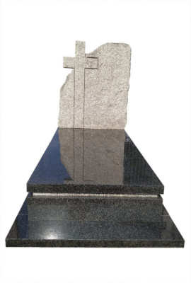 Nagrobek z Impali i skałka z granitu Strzelin