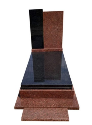 Nagrobek z granitów Indian Black i Vanga