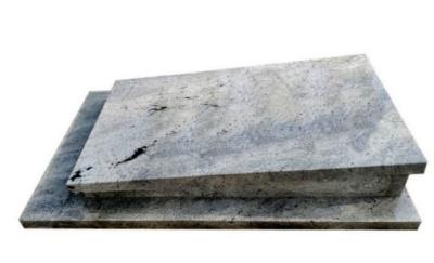Pomnik urnowy z granitu Imperial White