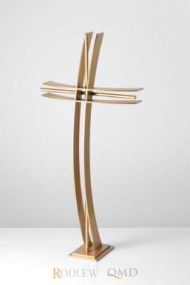 złoty krzyż łukowy z prętem KS1z